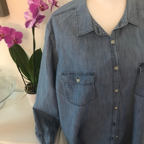 f5a58d9bf6bb4c Old Navy Tops - Denim Button Shirt Plus Size 3X Tall Old Navy